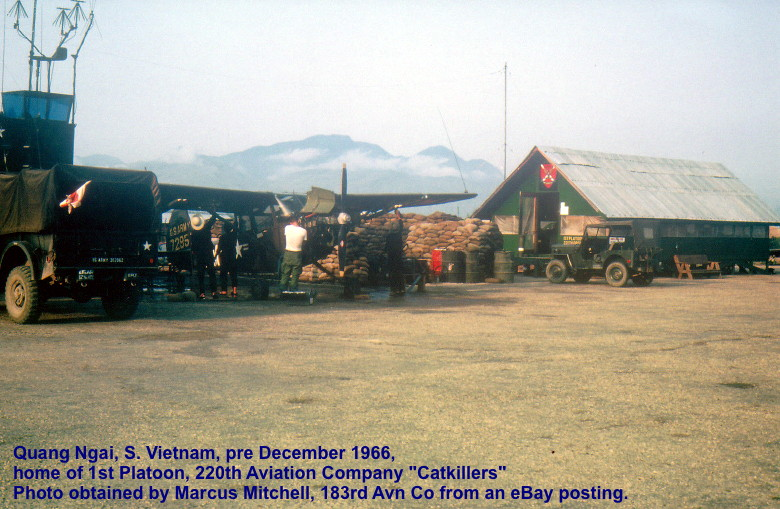 courtesy Marcus Mitchell, 183rd Avn Co: Quang Ngai Airfield, 1st Platoon Operations building, pre-December 1966