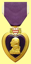 The Purple Heart is a United States military decoration awarded in the name of the President to those who have been wounded or killed while serving on or after April 5, 1917 with the U.S. military