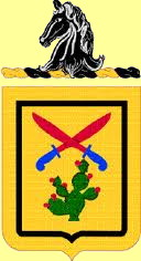 unit crest worn by SP4 Harry I. Kee, first tour in Germany with 11th Armored Cavalry, circa 1963-64