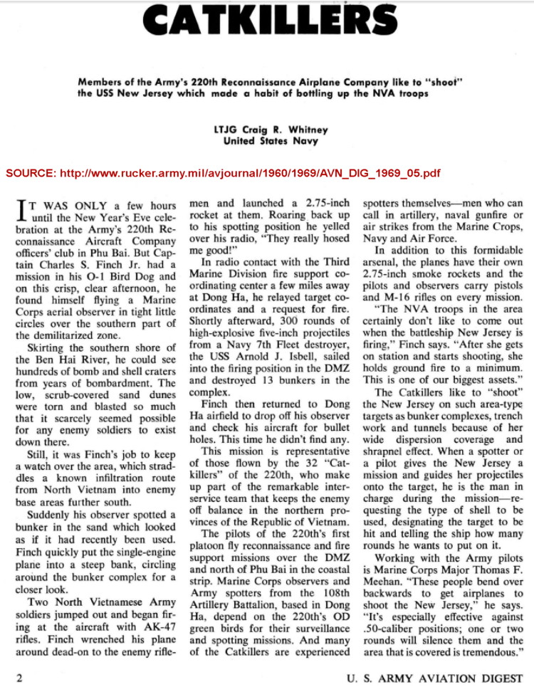 Catkillers, by LTJG Craig R. Whitney, United States Army Aviation Digest, May 1969, page 1