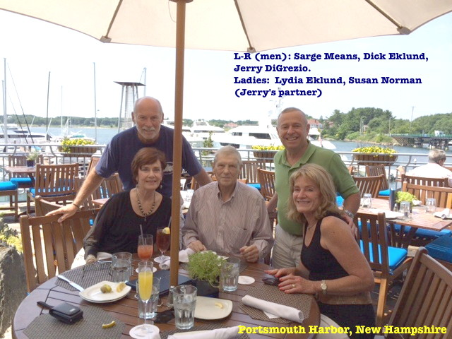 Sarge Means, Dick Eklund, Jerry DiGrezio and ladies