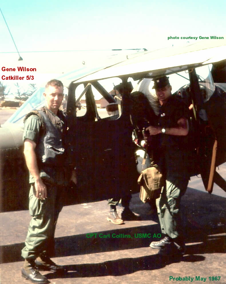 CPT CARL COLLINS, USMC AO on the right