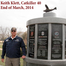 Keith Klett at Veterans Park, Fort Rucker, March 2014