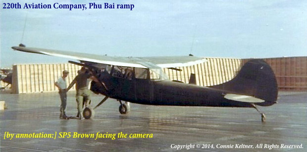 Phu Bai ramp showing SP5 Brown and others, courtesy CPT Tony Keltner, deceased
