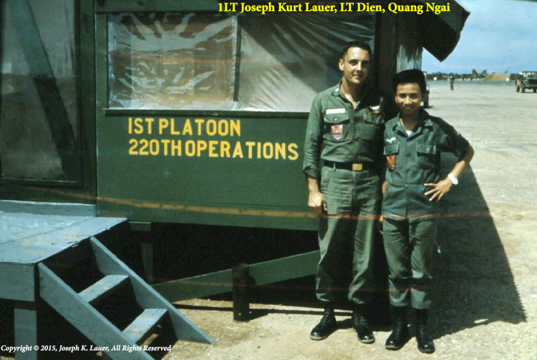 courtesy Kirk Lauer, himself and Lt. Dien, Quang Ngai Operations