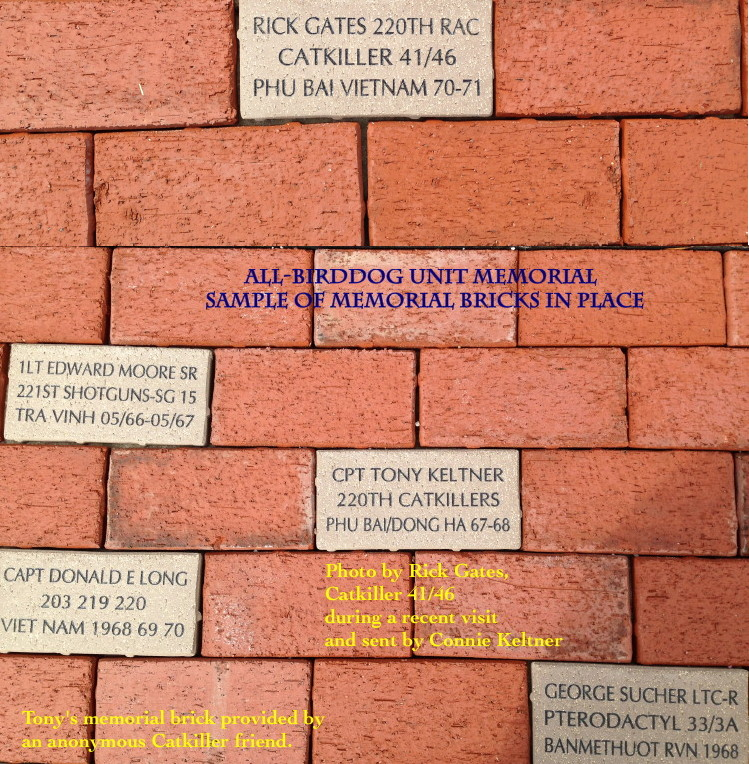 Memorial brick pavers at Veterans Park, Fort Rucker