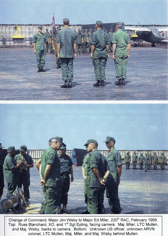 Change of Command, MAJ Jim Wisby to MAJ Ed Miler, February 1969
